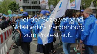 Video: Sozialverband VdK Berlin-Brandenburg auf dem Protesttag
