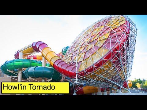 [HD] Howl'in Tornado - HUGE water slide at Great Wolf Lodge (Garden Grove, CA)