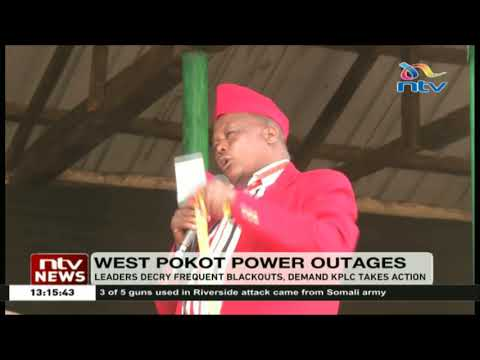 West Pokot leaders decry frequent blackouts, demand KPLC to take action