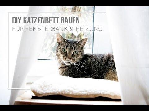 Katzenbett selber bauen für Fensterbank und Heizung