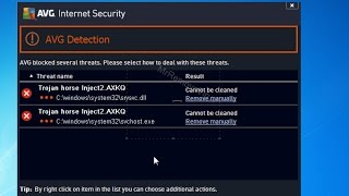 How to remove Trojan horse Inject2.AXKQ detected by AVG