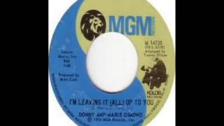 Donny and Marie Osmond - I'm Leaving It All Up To You (1974)