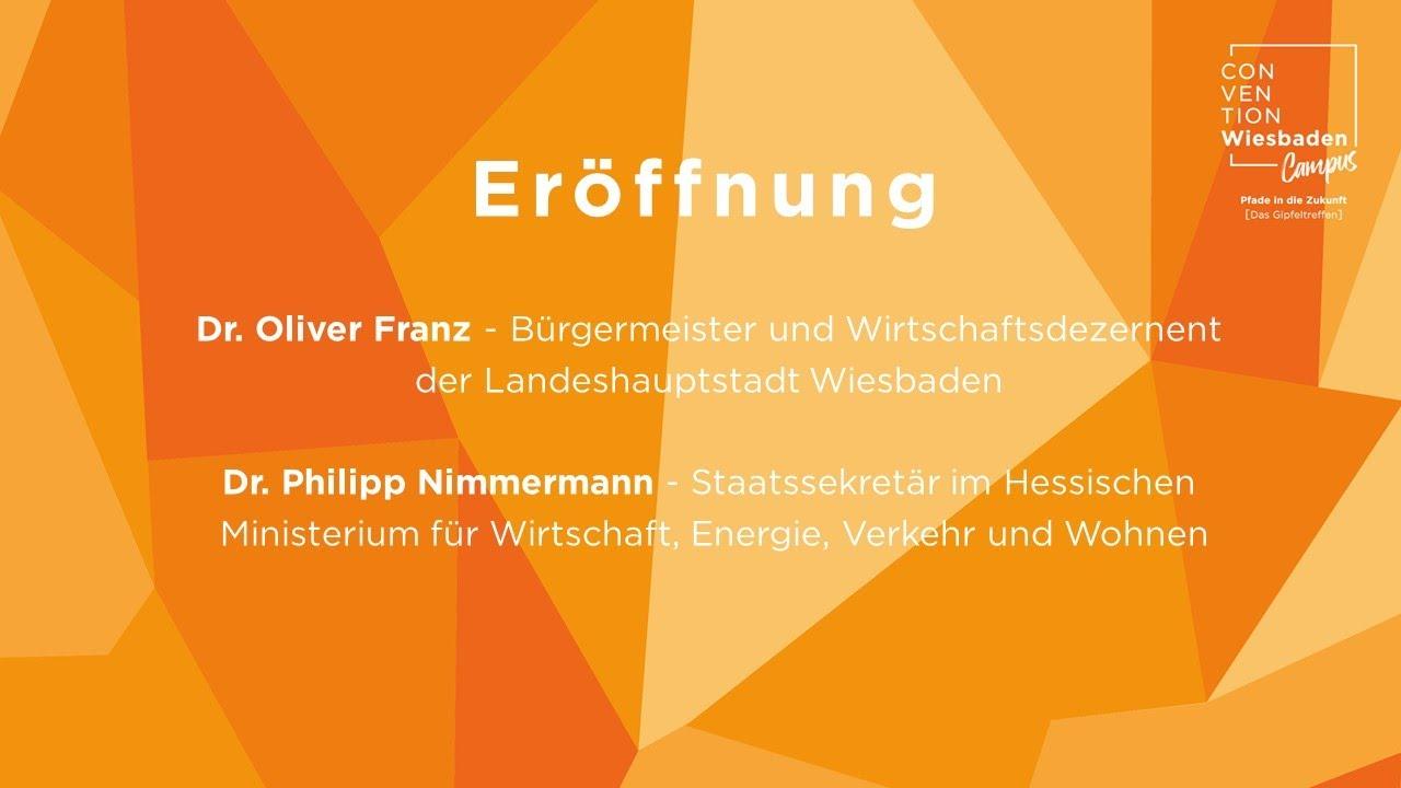 """Eröffnung der Veranstaltung """"Pfade in die Zukunft"""" - Das Gipfeltreffen"""