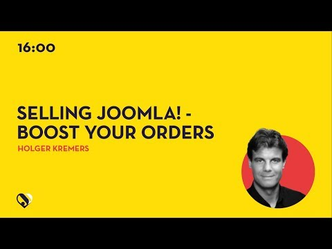 JD19DE - Selling Joomla! - BOOST YOUR ORDER