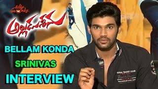 Bellamkonda Srinivas Exclusive Interview - Alludu Seenu