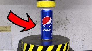 EXPERIMENT HYDRAULIC PRESS 100 TON vs PEPSI