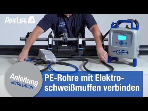 Verbindung von PE-Rohren mit Elektroschweißmuffen