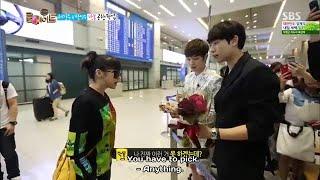 Bom back home🏠 Kang joon n Min woo escort Park Bom from airport😊