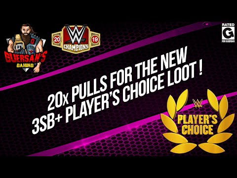 20x Pulls for The New 3SB+ Player's Choice Loot / WWE Champions 🍀