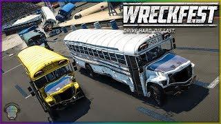 Figure 8 School Bus Race!   Wreckfest