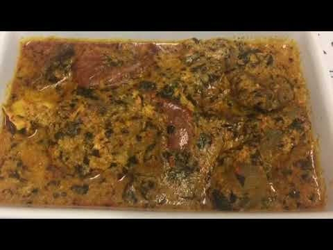 HOW TO MAKE BITTER LEAF SOUP WITH EGUSI