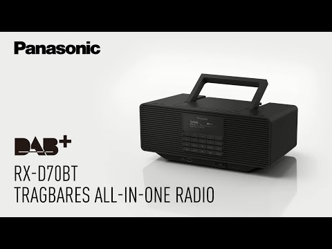 Panasonic RX-D70BT: Schickes Radio in Retro-Design mit DAB+