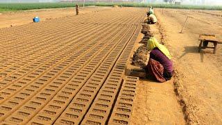 Bricks Making Machine ( Hand made Bricks ) by Village People of PUnjab/ INDIAN PEOPLE