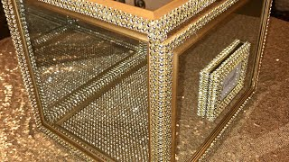 DIY Glam Wedding Card Box / Dollar Tree DIY Bling Card Box
