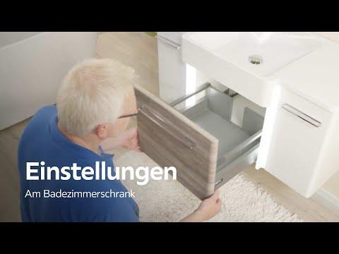 Scharniere und Schubladen einstellen - Badezimmer - XXXLutz