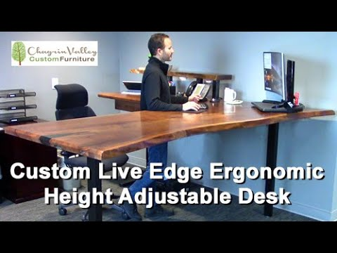 The Creation of a Custom-Made Ergonomic Live Edge Adjustable Height Desk