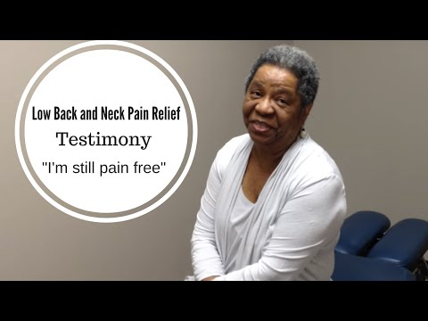 Low Back Pain and Neck Pain Testimonial