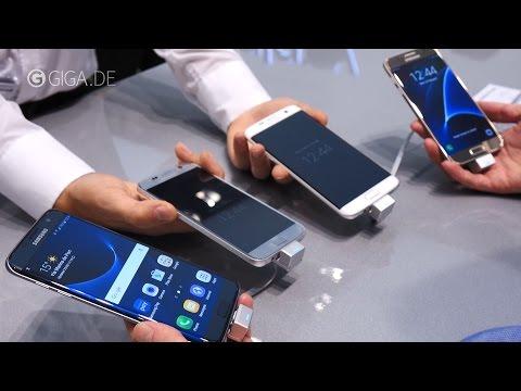 Samsung Galaxy S7 (edge) Farben: Schwarz, Weiß, Gold und Silber angeschaut - GIGA.DE