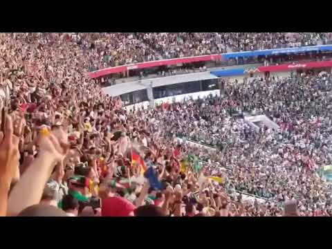 Armys loud fanchant during World Cup 2018 when BTS
