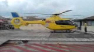 preview picture of video 'Spotting Hospital Comarcal del Pallars' Heliport - 07/29/10 - EC-135-P2+ EC-KPA Takeoff'