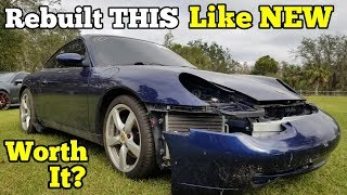 I Paid $4,250 for a Salvage Auction Porsche 911 & Spent A LOT More to Rebuild it 100%
