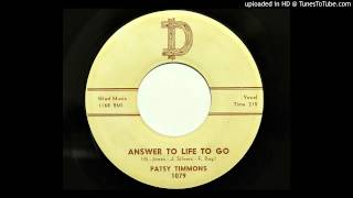 Patsy Timmons - Answer To Life To Go (D 1079) [1959 country]