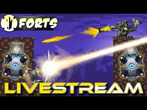 Big Moonshot Matches! (Forts Multiplayer Gameplay) - Forts RTS - Livestream