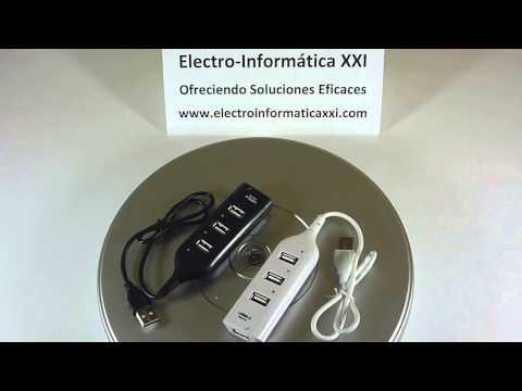 Conector Hub 4 Puertos USB 2.0 Ladrón USB Multipuerto