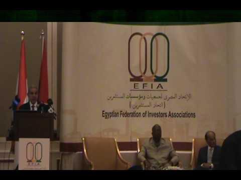 الوزير/طارق قابيل خلال منتدى الاعمال المصرى البوركينى بحضور رئيس جمهورية بوركينا فاسو