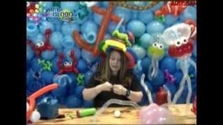 Decoración Marina en Globos: Medusa en Globos  Jellyfish Balloons Parte II