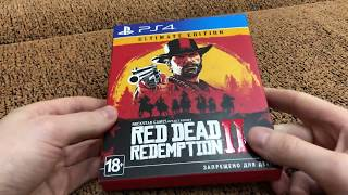 Unboxing Ultimate edition Red Dead Redemption 2. Распаковка Ультимэйт издания RDR2.