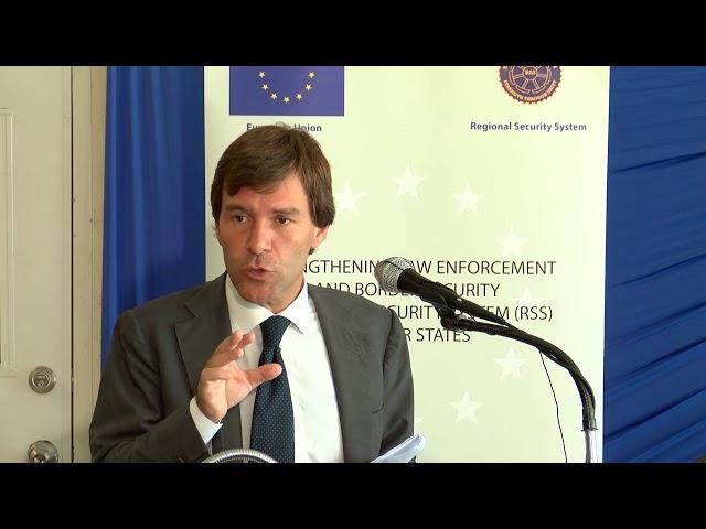 First secretary of the EU delegation to Barbados, Luca Pierantoni