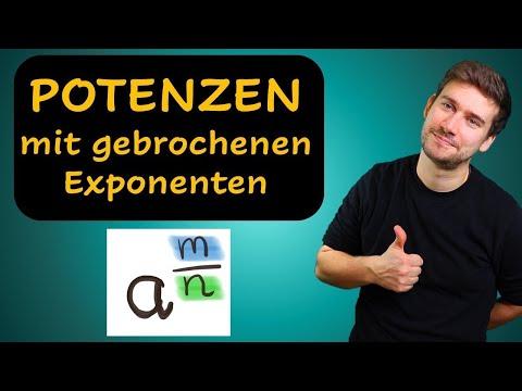 Cover: Potenzen mit gebrochenen Exponenten (Erklärung mit Beispielen) - YouTube
