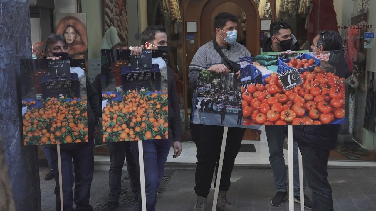 Διαμαρτυρία παραγωγών λαϊκων αγορών στο υπουργείο οικονομικών