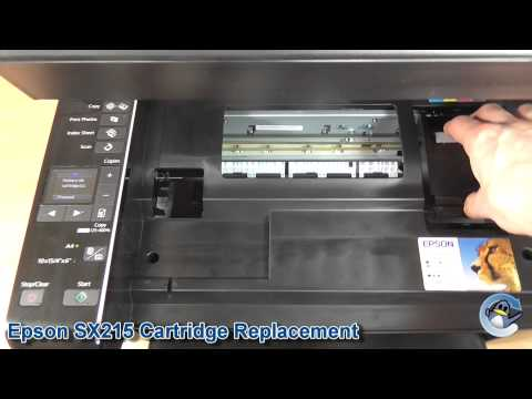 Epson Stylus SX215: How to Change Ink Cartridges
