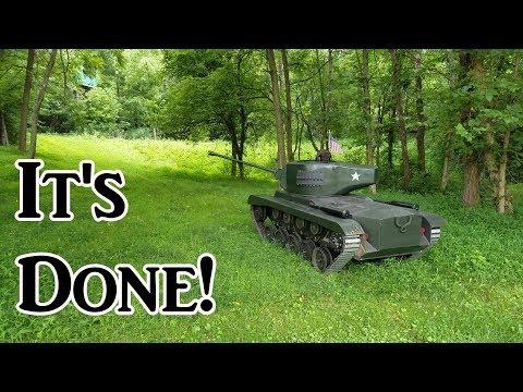 18歲高中生自製可乘坐的M26潘興坦克 2/5 模型
