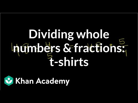 1861b4dd0 Dividing whole numbers   fractions  t-shirts (video)