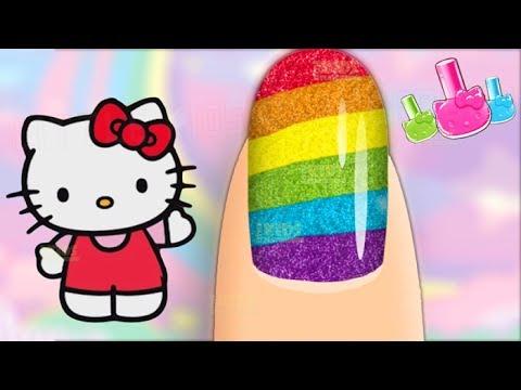 Hello Kitty Nail Salon - Fun Princess Nail Coloring Game for Girls