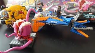 LEGO Marvel Guardians Of The Galaxy Vol 2 The Milano Vs. Abilisk - Fast Build!