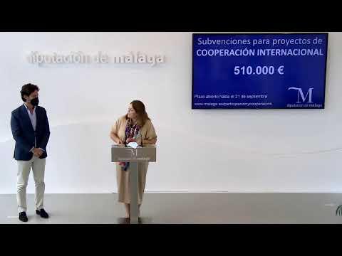 Presentación de subvenciones de la Diputación de Málaga en materia de cooperación internacional