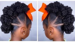 Textured Bun-Hawk Tutorial | Kids Natural Hairstyle | IAMAWOG