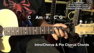 How To Play LOCKED AWAY  Rock City ft. Adam Levine EASY STRUM Guitar Tutorial