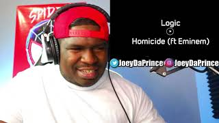 Logic   Homicide (feat. Eminem) (Official Audio)   REACTION