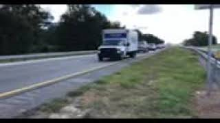 Greek Moving Hurricane Micheal Relief Convoy with Police Escort
