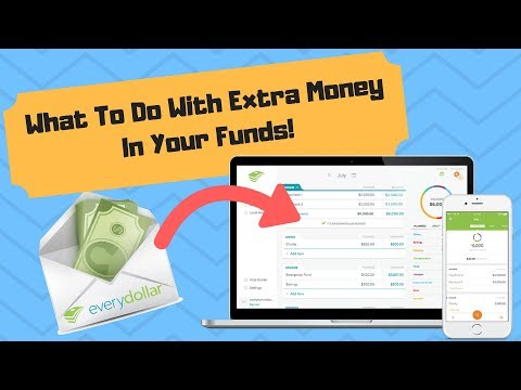 EveryDollar Tutorial: What to do with extra money in funds