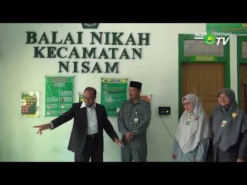 Menuju Aceh Tengah, Kakanwil Singgah ke KUA Nisam di Aceh Utara