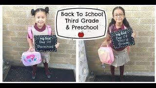 First Day Of School! Third Grade & Preschool