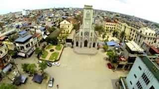 preview picture of video 'Nhà Thờ Lớn TP.Nam Định Flycam 2015'