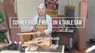 Make a Corner Bridle Joint with Frank Klausz