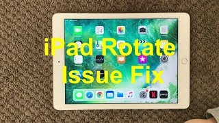 iPad Rotate Problem And Fix, How To Fix Stuck Orientation Rotation Issue on iPhone or iPad